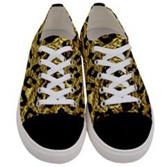 Skin5 Black Marble & Gold Foil Women s Low Top Canvas Sneakers