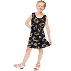 Skin5 Black Marble & Gold Foil (r)skin5 Black Marble & Gold Foil (r) Kids  Tunic Dress