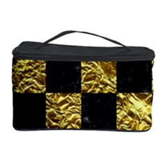 Square1 Black Marble & Gold Foil Cosmetic Storage Case