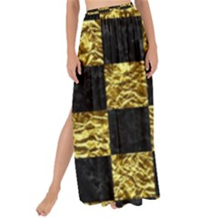 Square1 Black Marble & Gold Foil Maxi Chiffon Tie Up Sarong