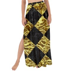 Square2 Black Marble & Gold Foil Maxi Chiffon Tie Up Sarong