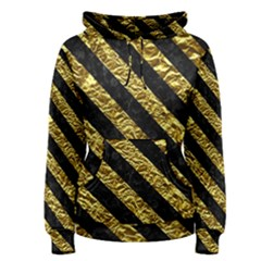 Stripes3 Black Marble & Gold Foil (r) Women s Pullover Hoodie