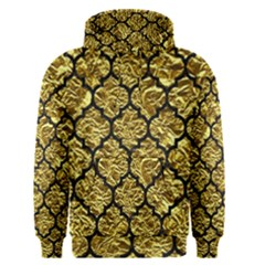 Tile1 Black Marble & Gold Foil (r) Men s Pullover Hoodie
