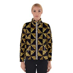 Triangle1 Black Marble & Gold Foil Winterwear