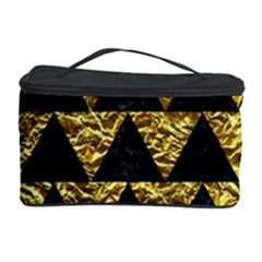 Triangle2 Black Marble & Gold Foil Cosmetic Storage Case