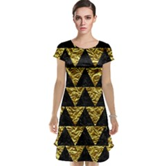 Triangle2 Black Marble & Gold Foil Cap Sleeve Nightdress