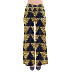 Triangle2 Black Marble & Gold Foil Pants