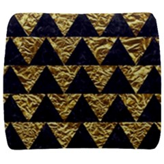 Triangle2 Black Marble & Gold Foil Back Support Cushion