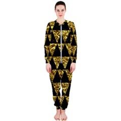 Triangle3 Black Marble & Gold Foil Onepiece Jumpsuit (ladies)