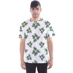 Nature Motif Pattern Design Men s Sports Mesh Tee