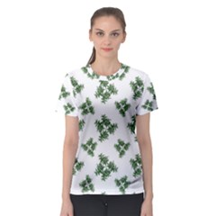 Nature Motif Pattern Design Women s Sport Mesh Tee
