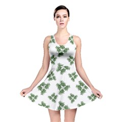 Nature Motif Pattern Design Reversible Skater Dress