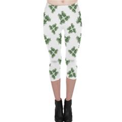 Nature Motif Pattern Design Capri Leggings