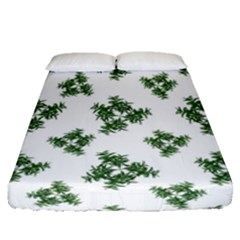 Nature Motif Pattern Design Fitted Sheet (queen Size)