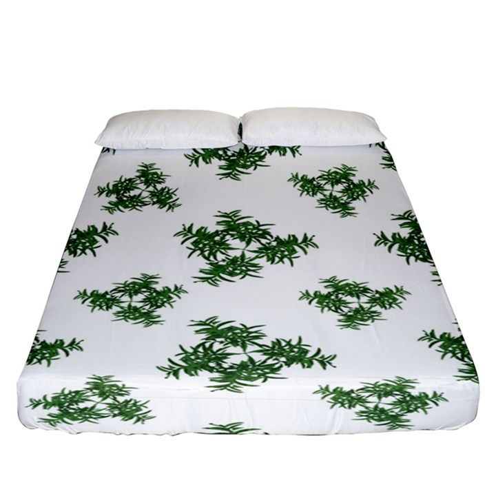 Nature Motif Pattern Design Fitted Sheet (King Size)