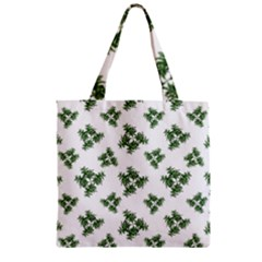 Nature Motif Pattern Design Zipper Grocery Tote Bag