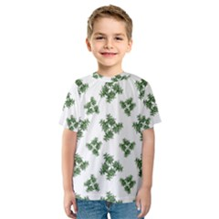 Nature Motif Pattern Design Kids  Sport Mesh Tee