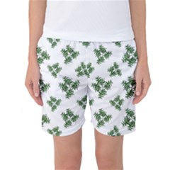Nature Motif Pattern Design Women s Basketball Shorts