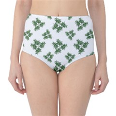 Nature Motif Pattern Design High Waist Bikini Bottoms