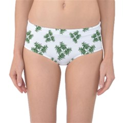 Nature Motif Pattern Design Mid Waist Bikini Bottoms
