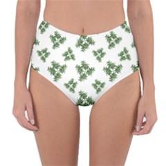 Nature Motif Pattern Design Reversible High Waist Bikini Bottoms