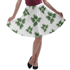Nature Motif Pattern Design A Line Skater Skirt