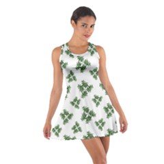 Nature Motif Pattern Design Cotton Racerback Dress