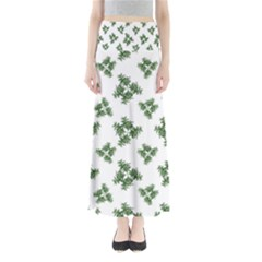 Nature Motif Pattern Design Full Length Maxi Skirt