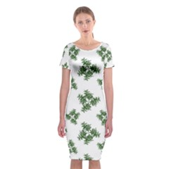 Nature Motif Pattern Design Classic Short Sleeve Midi Dress