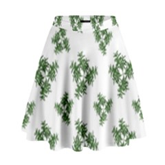 Nature Motif Pattern Design High Waist Skirt