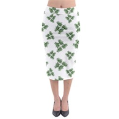 Nature Motif Pattern Design Midi Pencil Skirt