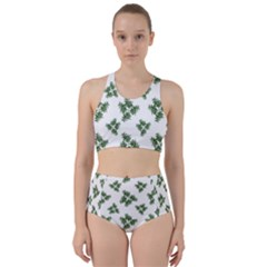Nature Motif Pattern Design Racer Back Bikini Set