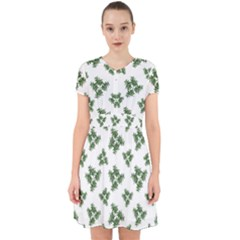 Nature Motif Pattern Design Adorable In Chiffon Dress