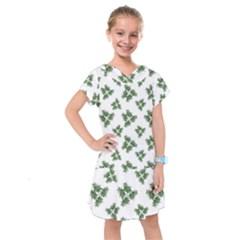 Nature Motif Pattern Design Kids  Drop Waist Dress