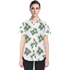 Nature Motif Pattern Design Women s Short Sleeve Shirt
