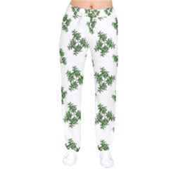 Nature Motif Pattern Design Drawstring Pants