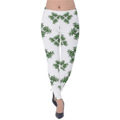 Nature Motif Pattern Design Velvet Leggings