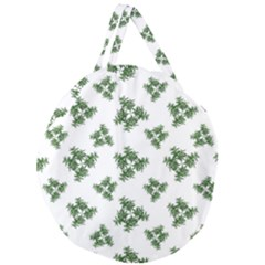 Nature Motif Pattern Design Giant Round Zipper Tote