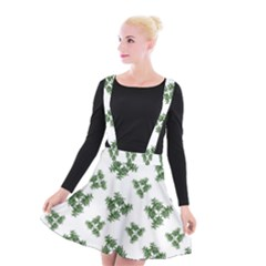 Nature Motif Pattern Design Suspender Skater Skirt