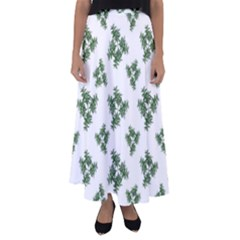 Nature Motif Pattern Design Flared Maxi Skirt