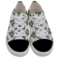 Nature Motif Pattern Design Women s Low Top Canvas Sneakers