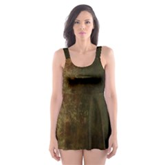 Marbled Structure 4a Skater Dress Swimsuit