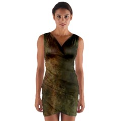Marbled Structure 4a Wrap Front Bodycon Dress