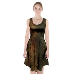 Marbled Structure 4a Racerback Midi Dress