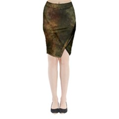Marbled Structure 4a Midi Wrap Pencil Skirt