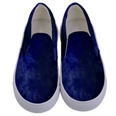 Marbled Structure 4b Kids  Canvas Slip Ons