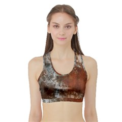 Marbled Structure 4c Sports Bra With Border