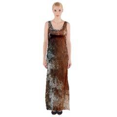 Marbled Structure 4c Maxi Thigh Split Dress