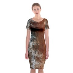 Marbled Structure 4c Classic Short Sleeve Midi Dress