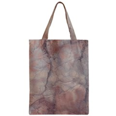 Marbled Structure 5a Zipper Classic Tote Bag